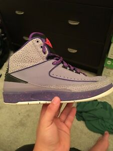 Jordans 2 iron purple size 9