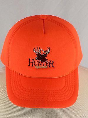 VTG Deer Hunter Snapback Hat Cap 80s Padded Warm Orange Hunting Outdoors  Antlers 55b84c65c