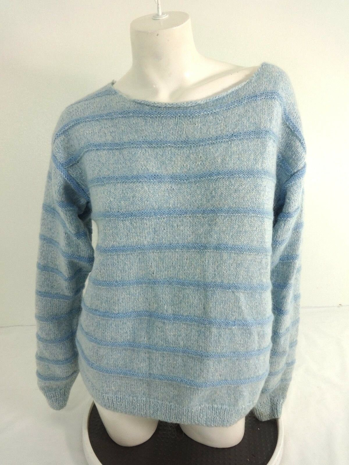 Details about NWOT WOMENS LIGHT BLUE WOOL BLEND KNIT SWEATER SIZE LARGE 8414fc71f8