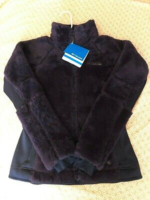 Columbia Womens Full Zip Pearl Plush Fast Beauty Fleece Size S Purple Fuzzy Columbia Pearl Plush Fleece
