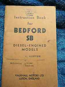Instruction Book for Bedford SB Diesel Engined Models,1962 Rowville Knox Area Preview