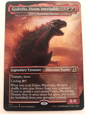 MTG Magic the gathering Sammlung 1x Foil Art Godzilla, Doom Inevitable Ikoria