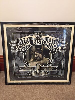 Social Distortion House Of Blues RARE & PROFESSIONALLY Framed Poster