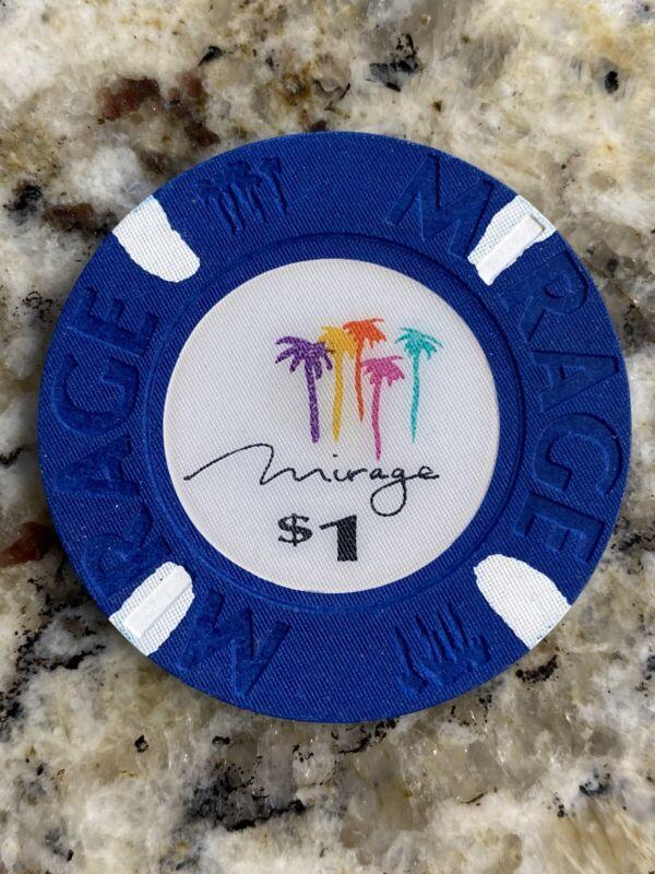 Mirage Casino Las Vegas $1 Casino Chip Mint / Uncirculated / Obsolete 1989