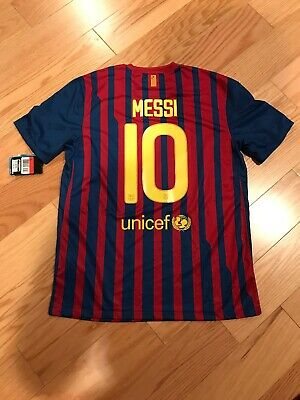 Nike FC Barcelona Soccer Home Jersey 2011 Size L No.10 Messi BNWT Authentic 2012 image