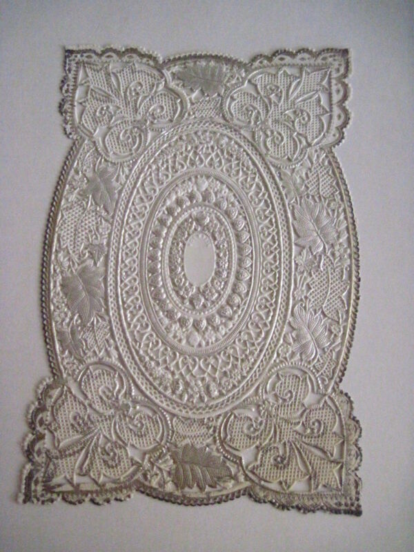 Vintage Antique Victorian Lace Sheet For Making Valentine or Other Crafts *