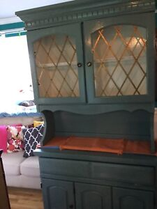 Soft jade cabinet hutch - available