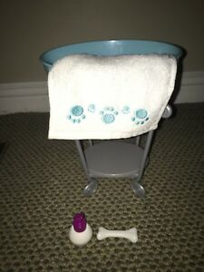 AMERICAN GIRL DOLL PET BATH WITH ACCESSORIES!
