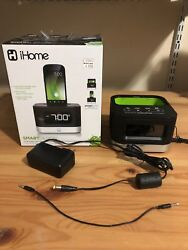 Used iHome IC50 Android Smart Phone Dock Clock Radio Speaker with box