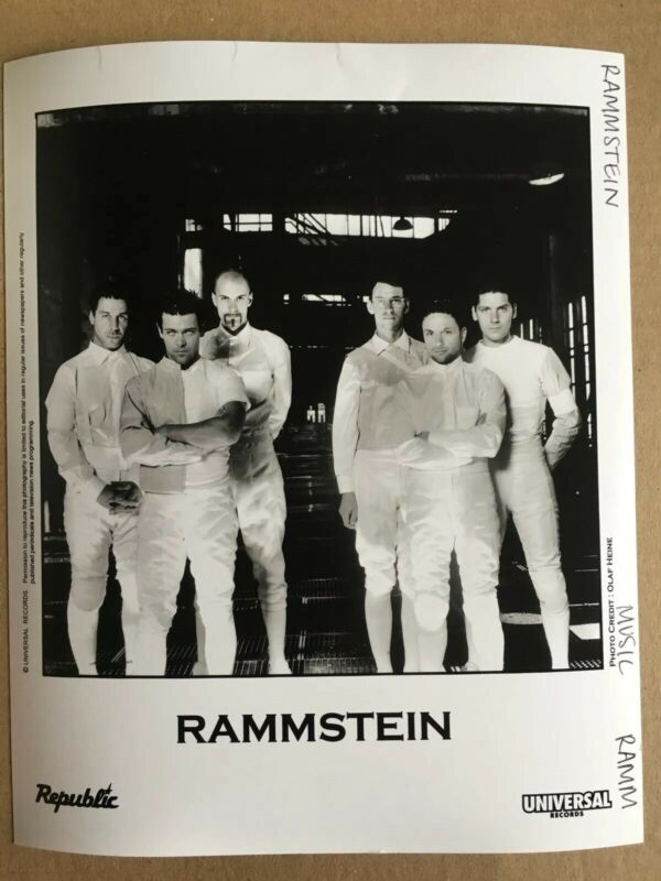 "Rammstein Press Photo 8x10"", Republic, Universal Records"