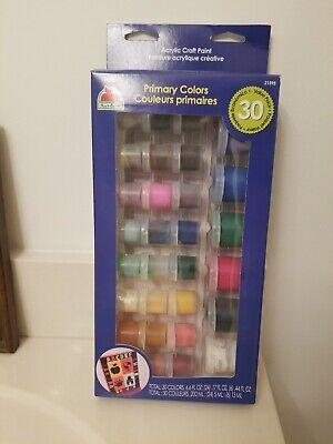 apple barrel 30 primary colors acrylic craft paint set. Value pk. .17 & .44fl oz