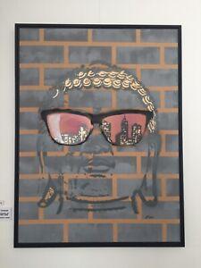 Oakley Frogskins NYC Buddha Framed Street Art by Adam Todd 120 x 90cm
