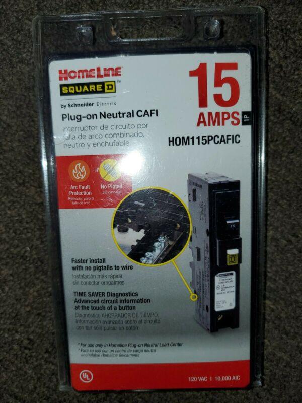 Homeline Square D HOM115PCAFIC  Plug On Neutral CAFI 15 Amp
