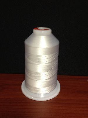 Embroidery Thread Polyester - WHITE - 5500 yds
