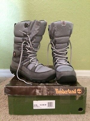 Timberland Waterproof Nanook Snow Boots 10.5M graphite Primaloft 200g Insulation