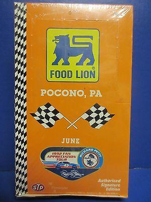 1992 Food Lion Pocono  Pa Nascar Trading Cards