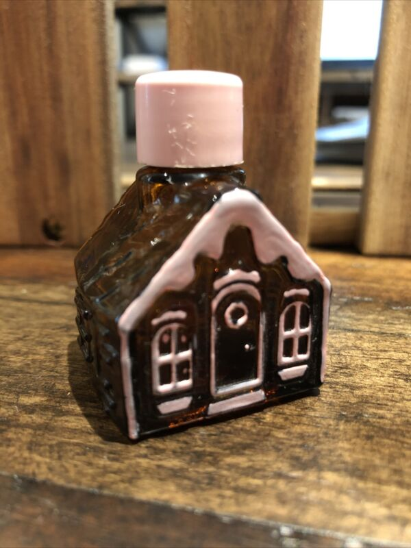 AVON Gingerbread Cottage - SWEET HONESTY Cologne Decanter .5oz -1980
