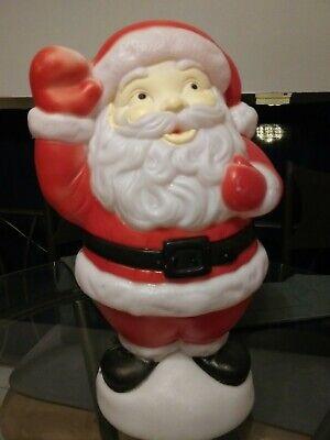 """Vintage Christmas Empire waving Santa blow mold 18"""" tag table top yard light"""