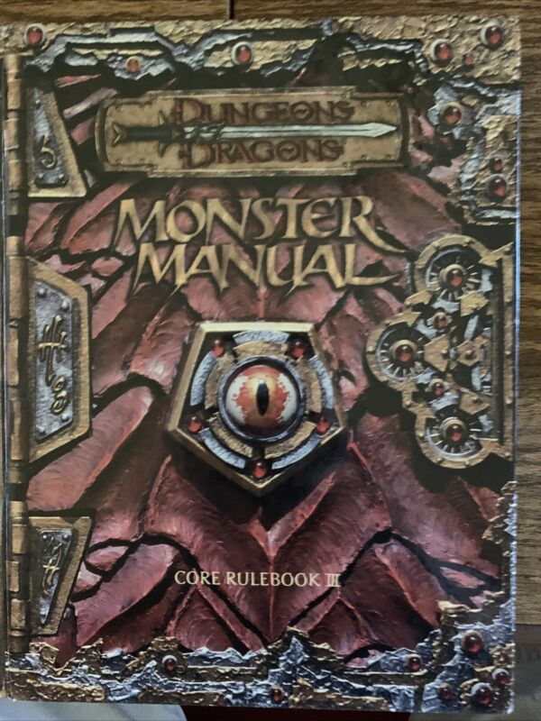 Monster Manual 3.0 Dungeons Dragons 1st Printing Wotc 3e