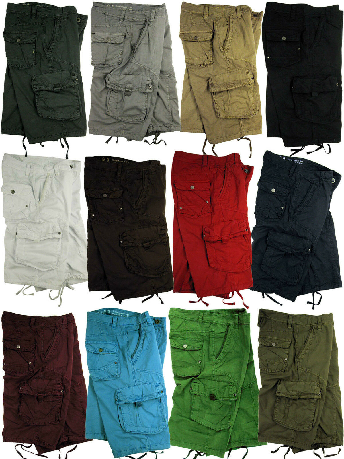 BNWT MENS MILITARY/_STYLE COLOR CARGO SHORT sizes:30-42 #818s