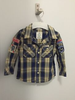 Country Road Shirt - NEW- 6-12mths Sherwood Brisbane South West Preview