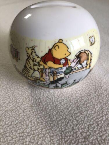 Winnie The Pooh Royal Doulton Disney A Christening Gift Piggy Bank