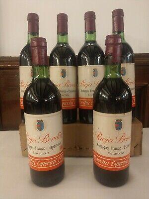 1970 Bordón Cosecha Especial, Bodegas Franco Españolas Rioja Crianza 6 BOTELLAS