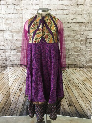 India Cotton Gauze Bohemian Gypsy Boho Hippie Festival Tiered Dress