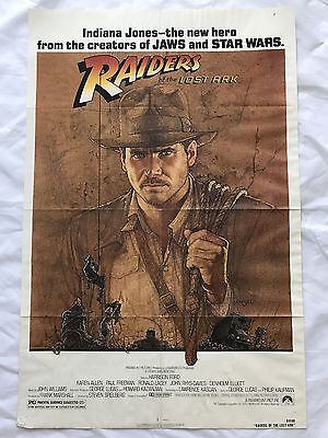 Indiana Jones  1981 Original Movie Poster First Issue 27X41 Harrison Ford
