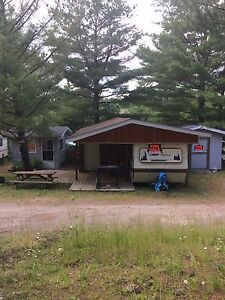 Trailer + sleep camp + shed for sale