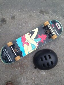 Enjoi Complete Skateboard and Helmet