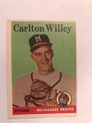 1958 Topps  407   Carlton Willey  Rc    Milwaukee Braves