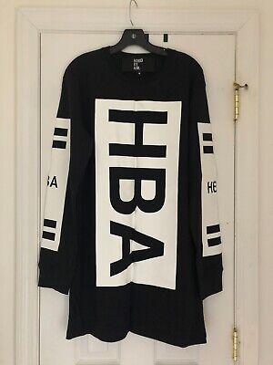 HOOD BY AIR [HBA] Classic Block Logo Long Sleeve Shirt Top in Black Size M