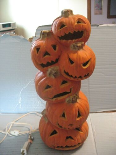 "Halloween Trendmasters 18"" Pumpkin Totem Foam Blow Mold"