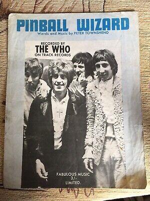 "The Who ""Pinball Wizard"" sheet music"