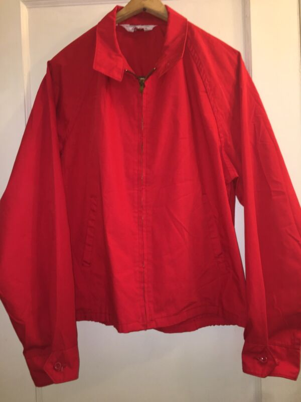 Vintage Cotton BSA Boy Scouts Of America BSA Official Red JACKET L