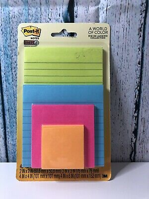 New Post-it Super Sticky Notes A World Of Color 3x3 In 5 Padspack