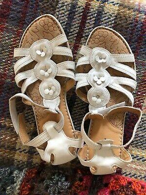 Ladies Hush Puppies Sandals Size UK 9 - Santa Fe white leather