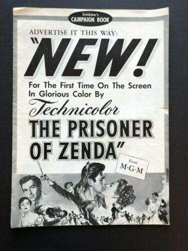 "The Prisoner of Zenda Original Movie Pressbook (1937) - 9 Pages - 12"" x 17"" EX"