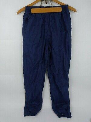 Vtg Nike Nylon Jogger Pants Women's Size Medium 8-10 Blue Athletic Athleisure