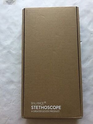Clinical Grade Dual Head Stethoscope By Balance Classic Light Weight Design New