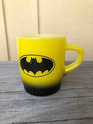 Old Batman Super Hero Logo Advertising Cartoon Movie Fire King Coffee Mug