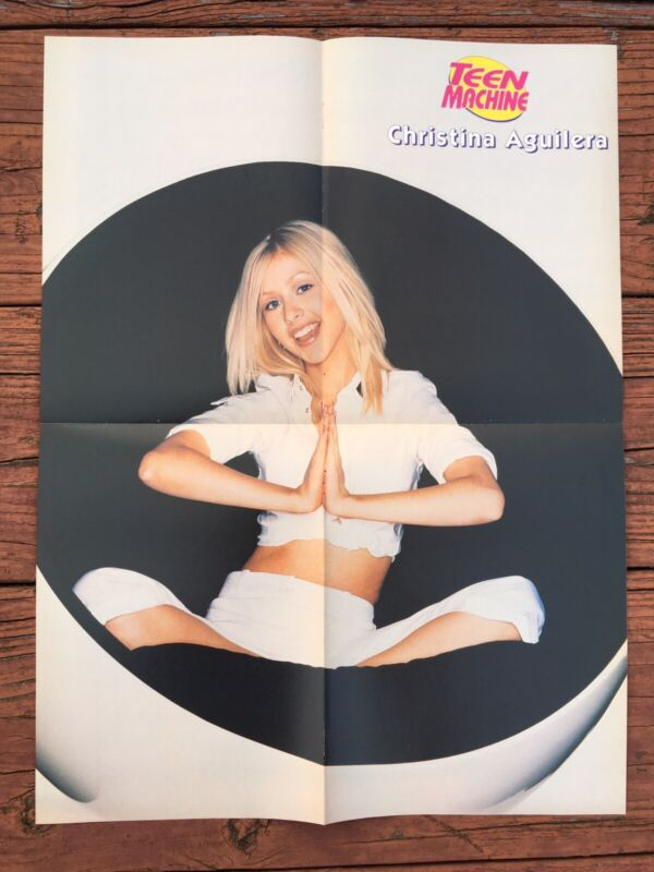 Christina Aguilera 98 Degrees Pinup Two Sided Poster