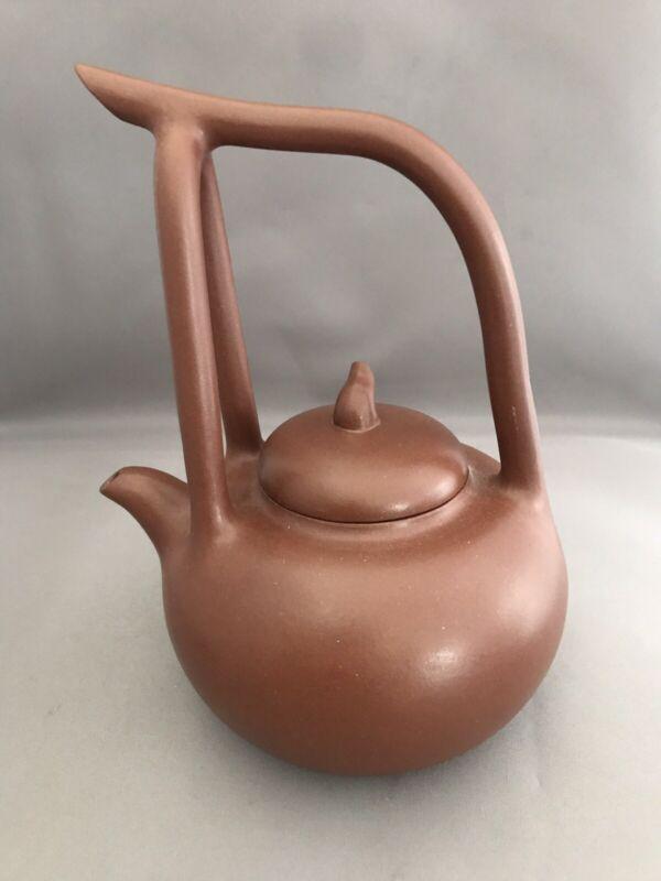 Yixing Zisha Teapot with Overhead Handle