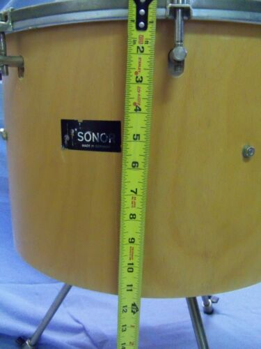 """SONOR ORFF  ROTARY TUNED TIMP TOM WITH LEGS  18"""" X 12""""  VERY NICE!!"""