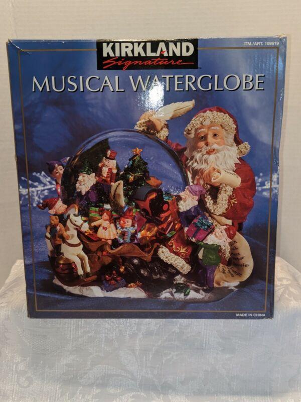 Kirkland Signature Large Musical Water Globe Snow Globe Santa