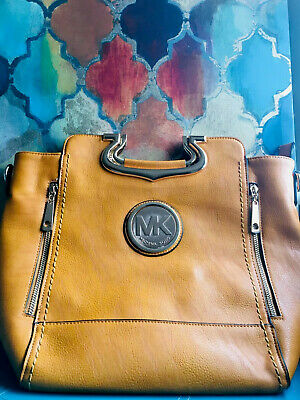 Michael Kors Large Satchel Handbag - ORANGE - Wrapped In Gifting Box