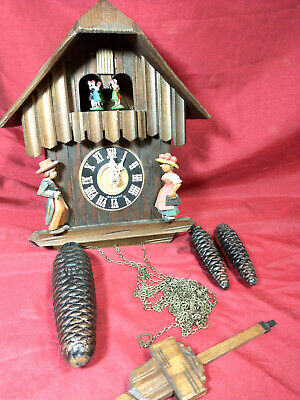 Vintage Anton Schneider Sohne W German Cuckoo Clock - Plays Edelweiss (NH)