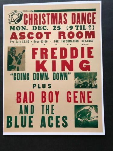1972 FREDDIE KING Freddy King Christmas Show Poster