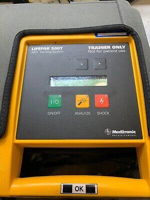Medtronic Lifepak 500t Aed Defibrillator Trainer System W Carrystorage Case Mw